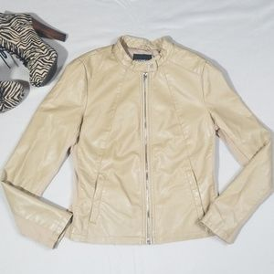 Express Minus The Leather Jacket Tan Size M